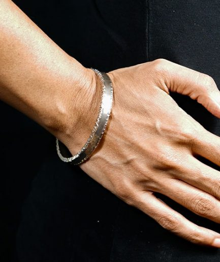 Cuff With Textured Edge