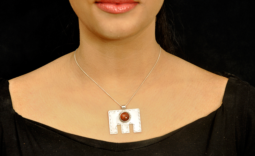 Etched Amulet And Carnelian