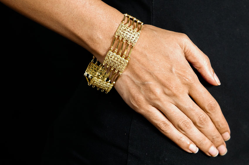 Gold Filigree Bracelet