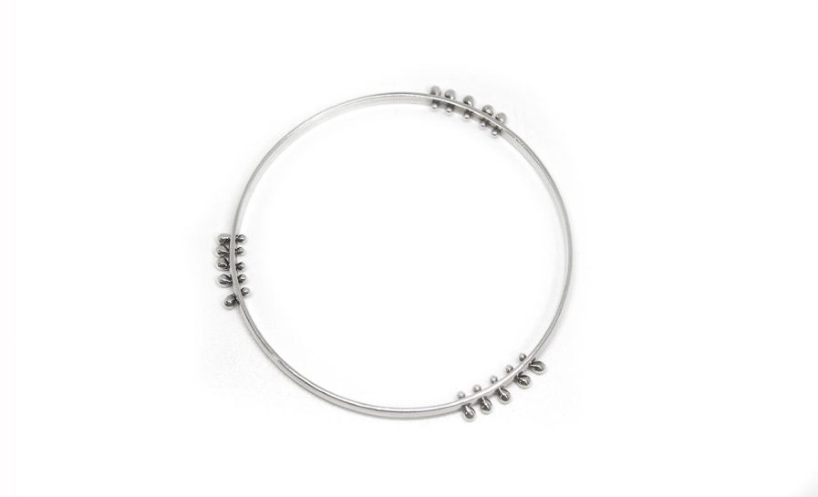 Double Edge Wire Granules Bangle