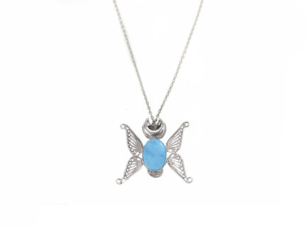 Filigree Butterfly  With Turquoise