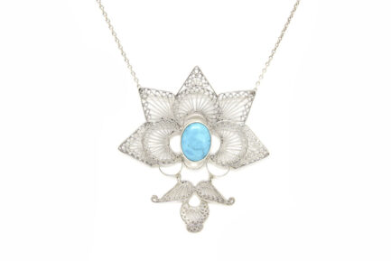Filigree Lotus With Turquoise