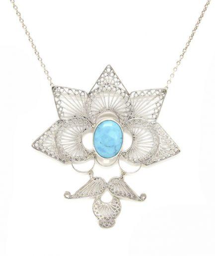 Filigree Lotus With Turquoise