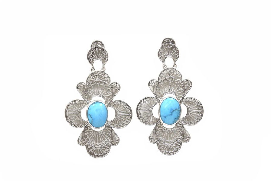 Floral Filigree with Turquoise