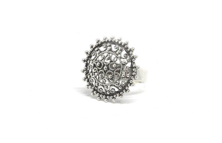 Flower Filigree Dial Ring