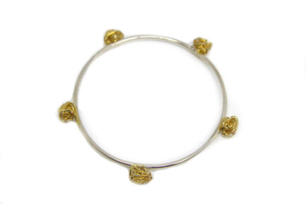 Gold Plated Wire Balls Bangle