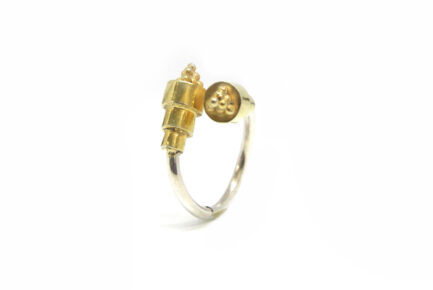 Gold Triangle Edge Ring
