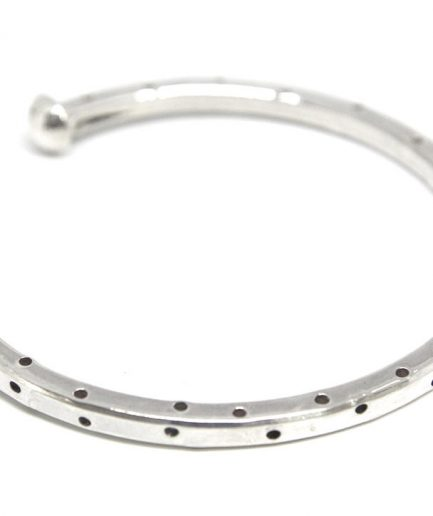 Square Wire Cuff with Etched Dots