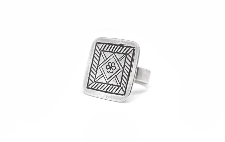 Stamped Square Ring 2