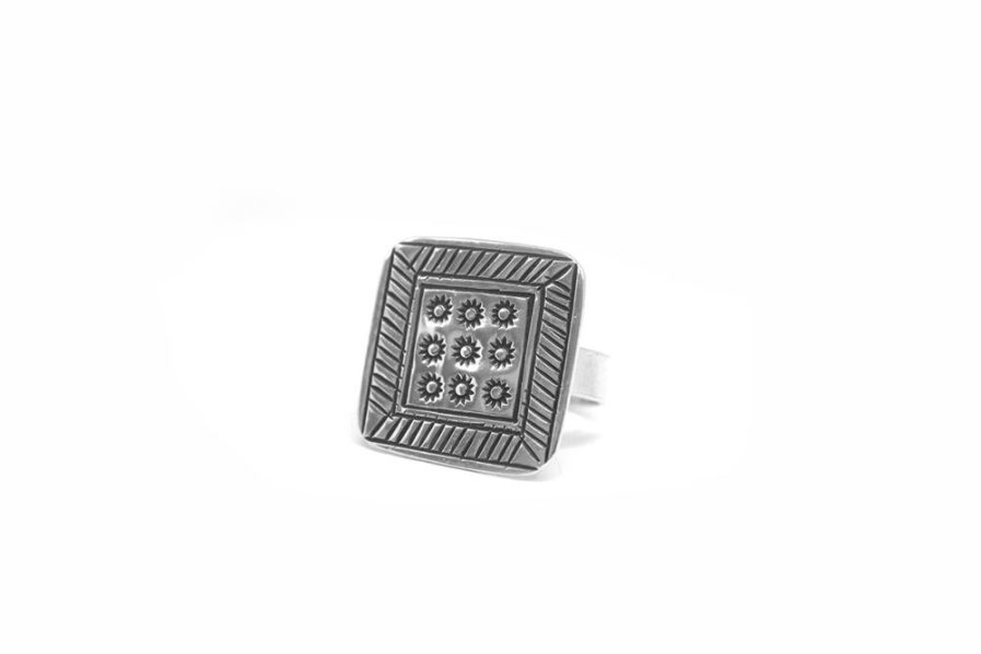 Stamped Square Ring 3