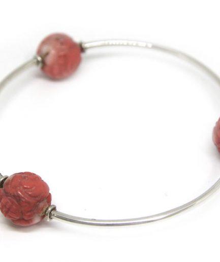Three Coral Beads