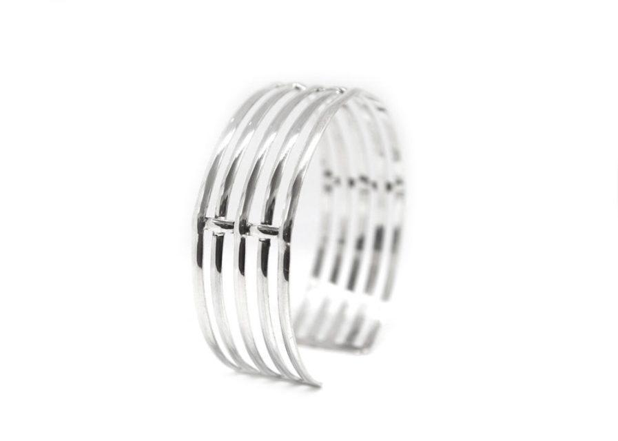 Wire Cuff Silver