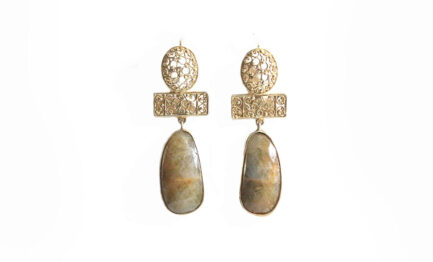 Agate and Gold Plated Filigree