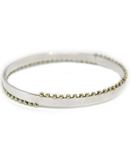 Bangle with Brass Granules