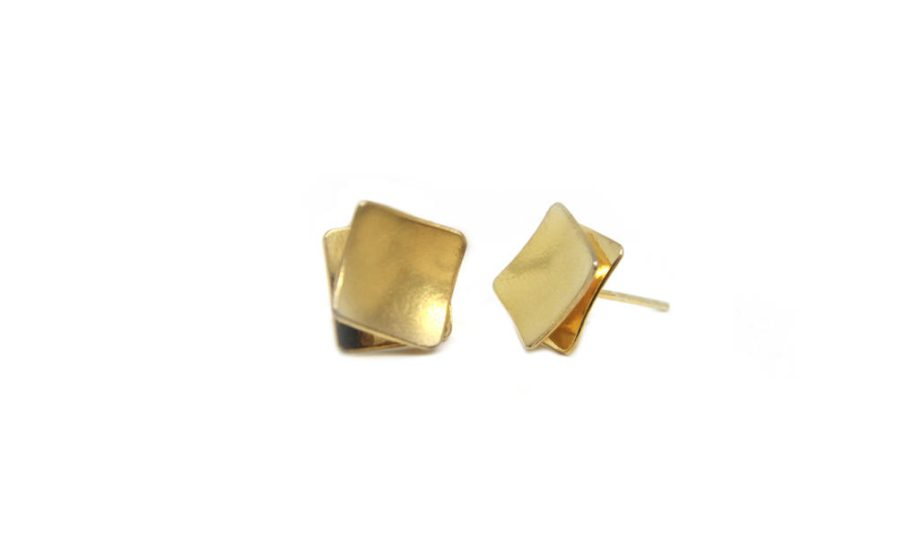 Concave Squares (Gold plated)