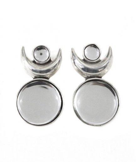Crescent & Kundan Glass Tops