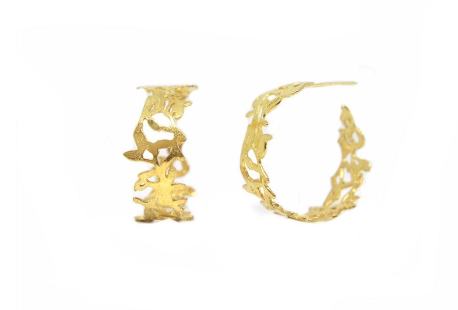 Cut-out Open Hoops (gold plated)