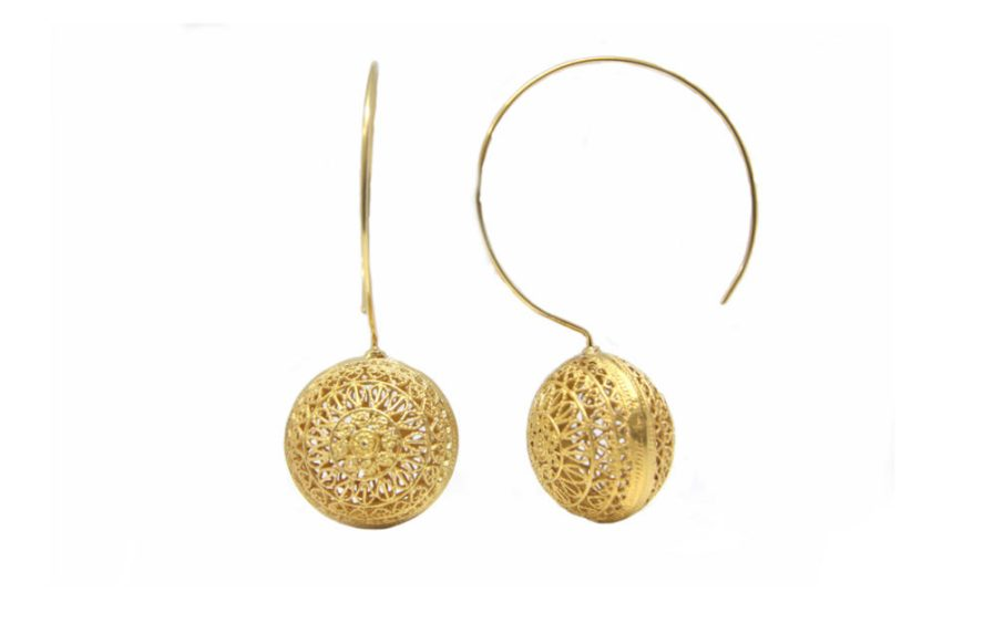 Filigree Balls Gold Plated