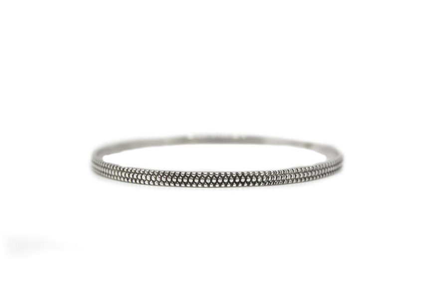 Granule Textured Stamped Bangle