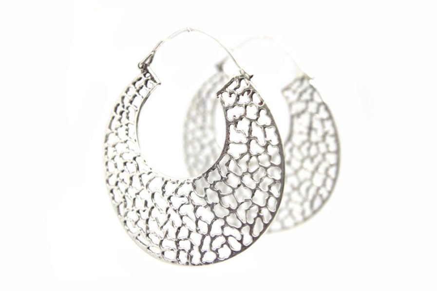 Jaggered Cutout Hoops