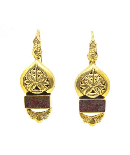 Lahore Gold with Agate Earrings