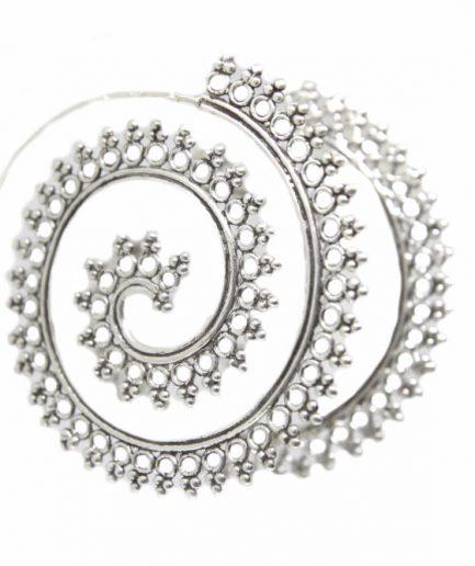 Round Filigree Spiral Hoop