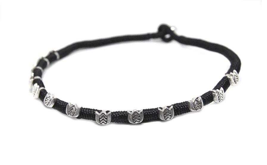 Silver Lotus in Black String