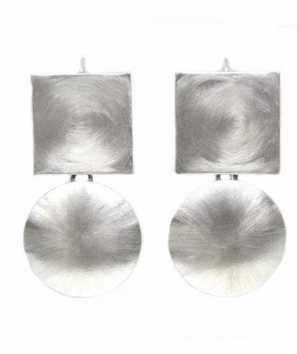 Square and Circle Satin Silver