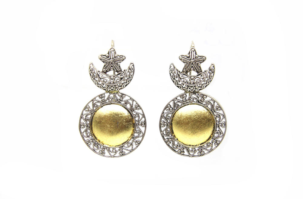 Sun Moon and Star Earrings