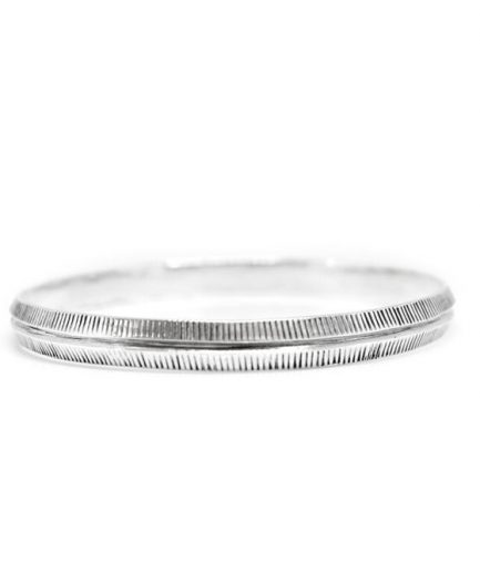 Tapered Etched Bangle
