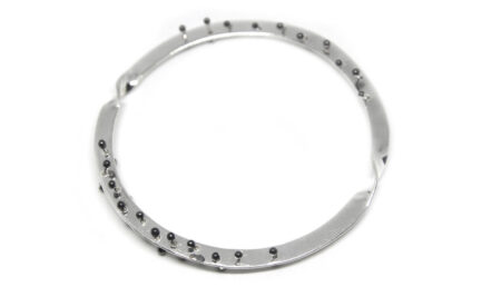 Twisted Double Edge Granules Bangle