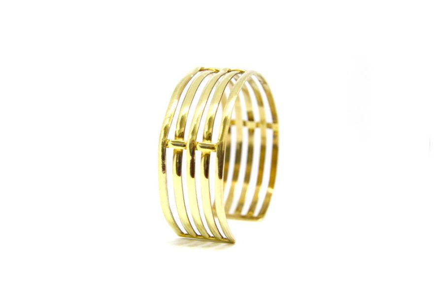 Wire Cuff Gold Plated