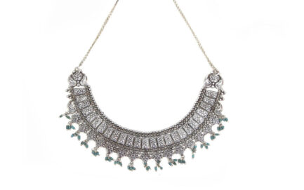 Yasmeen Double Layer Necklace With Turquoise Beads