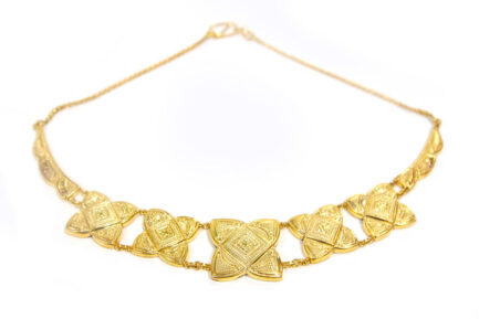 Yasmeen Square Necklace Gold Plated
