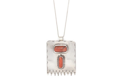 Etched Coral Amulet