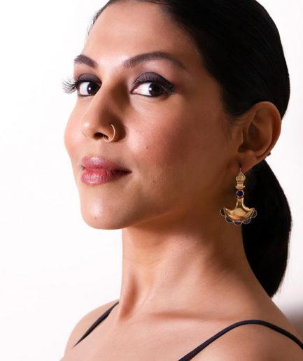 Lahore Gold with Lapis Earrings