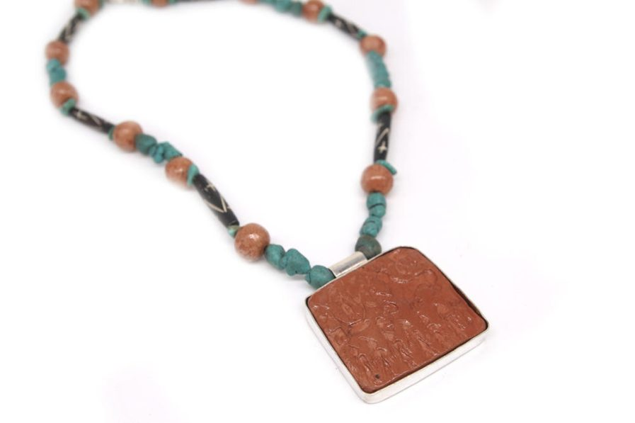 Merchant Seal Clay necklace