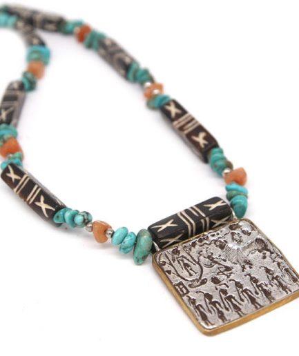Merchant Seal Silver Necklace