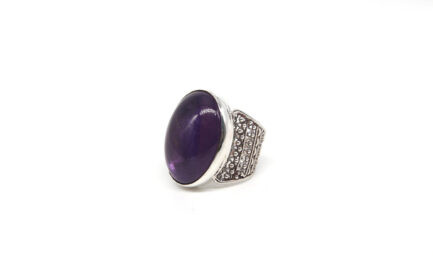 Oval Amethyst With Filigree Band 2
