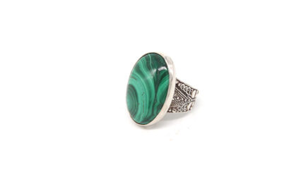 Oval Malachite With Filigree Band 3