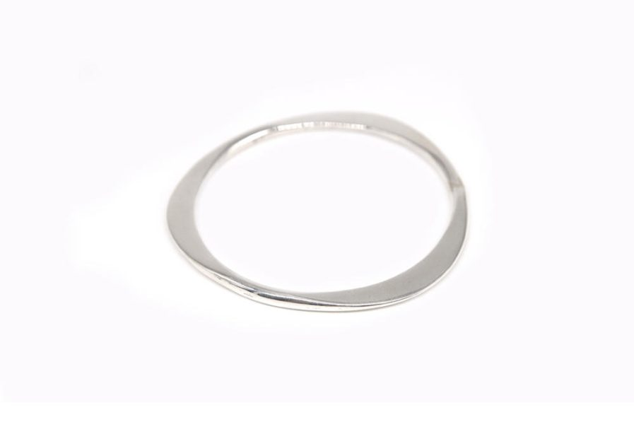 Round Triangle Edge Bangle
