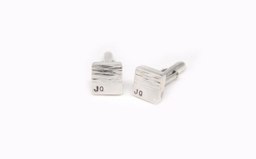 Square Initials Cufflinks
