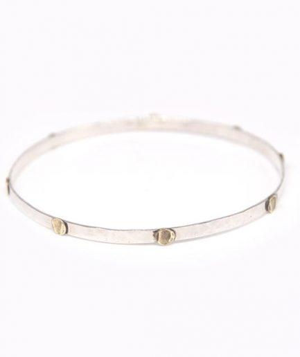 Thin Bangle with Brass Discs