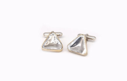 Triangular Concave Cufflinks
