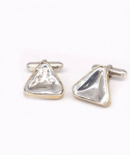 Triangular Concave Cufflinks