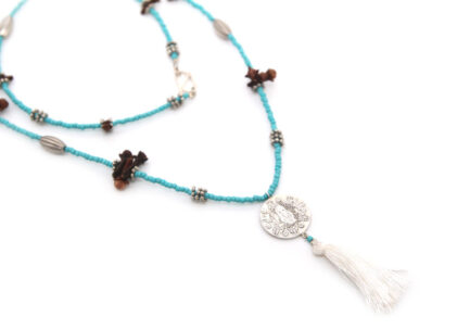 Turquoise Single Coin Necklace
