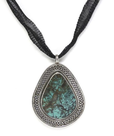 Turquoise With Silver Border