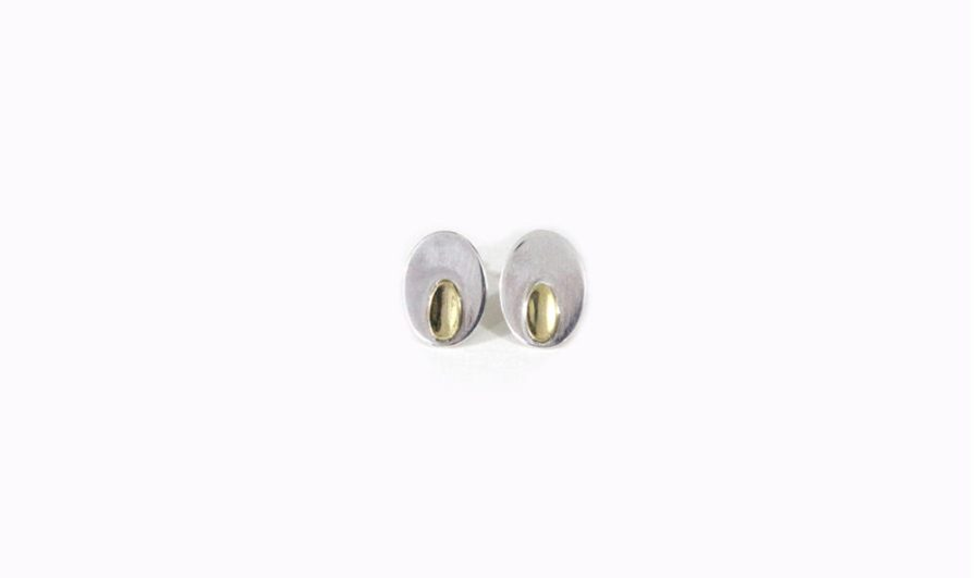 Two Metal Oval Studs