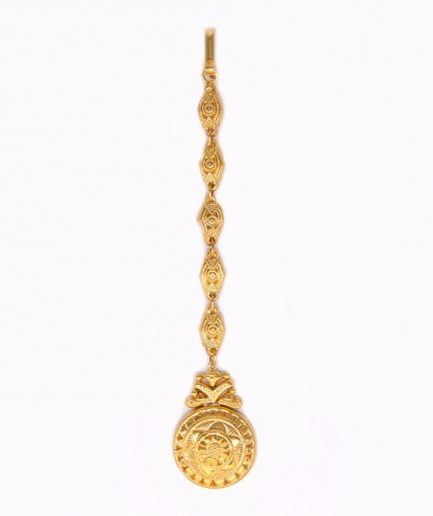 Yasmeen Gold Plated Tikka With Chain