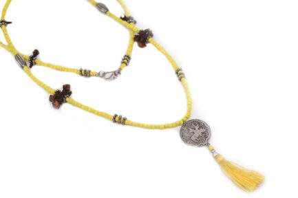 Yellow Single Coin Necklace